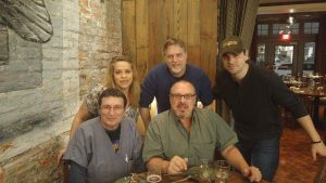 Friends and family in New Orleans