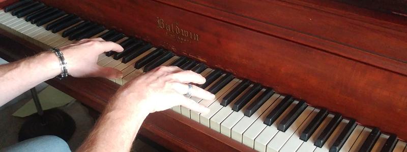 Chip at the piano